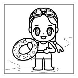 8月 海水浴